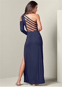 strappy back maxi dress
