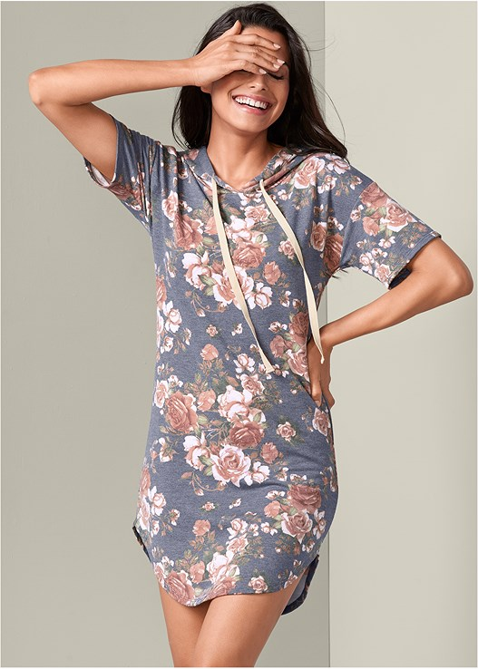 FLORAL LOUNGE DRESS