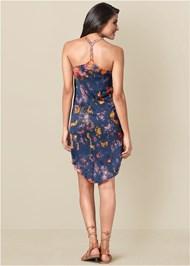 Back View Tie Dye Tank Dress