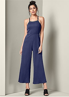 ribbed lounge jumpsuit