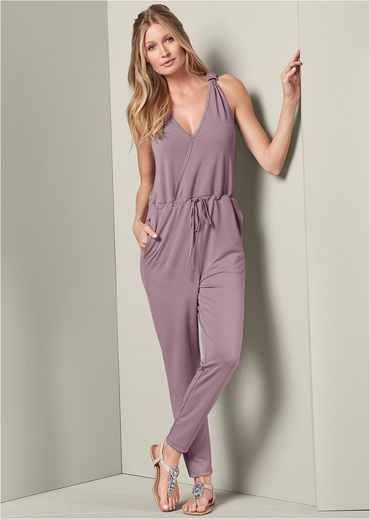 FRENCH TERRY JUMPSUIT,VENUS CUPID BRA