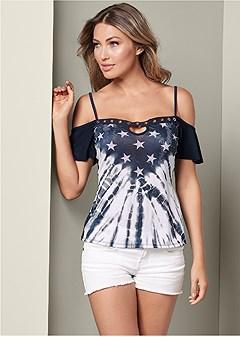 american cold shoulder top