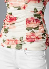 Alternate View Floral Mesh Top