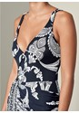 Alternate View Drape Detail Printed Dress