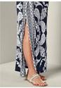 Alternate View Drape Detail Printed Dress