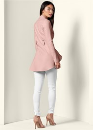 Back View High Low Moto Jacket