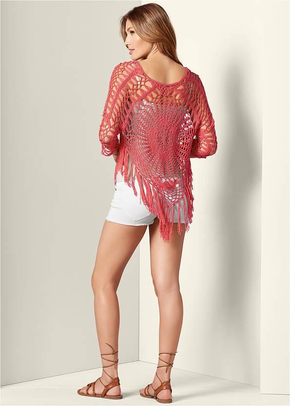 Back View Crochet Sweater