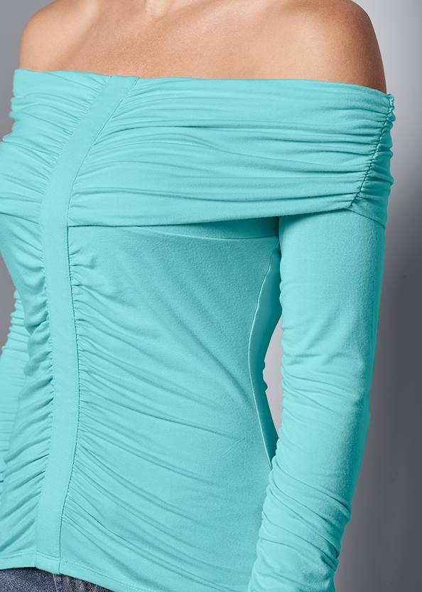 Alternative Ruched Off-The-Shoulder Top
