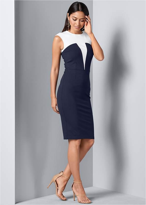 Alternative Color Block Bodycon Dress