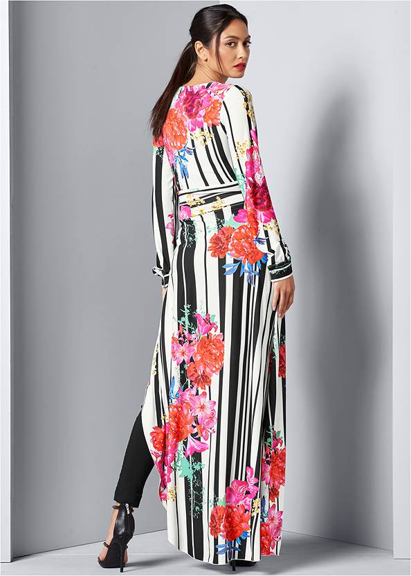 Back view Tie Front Maxi Top