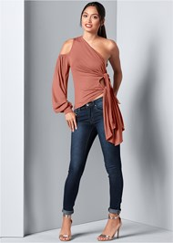 Alternative Cold Shoulder Side Tie Top