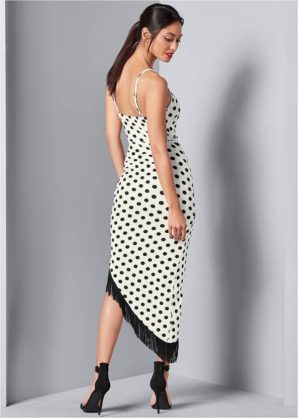 Back View Fringe Detail Dress