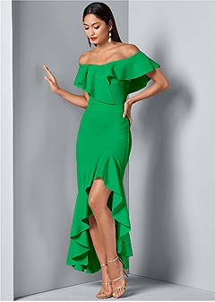 f49beed356d1 high low ruffle dress
