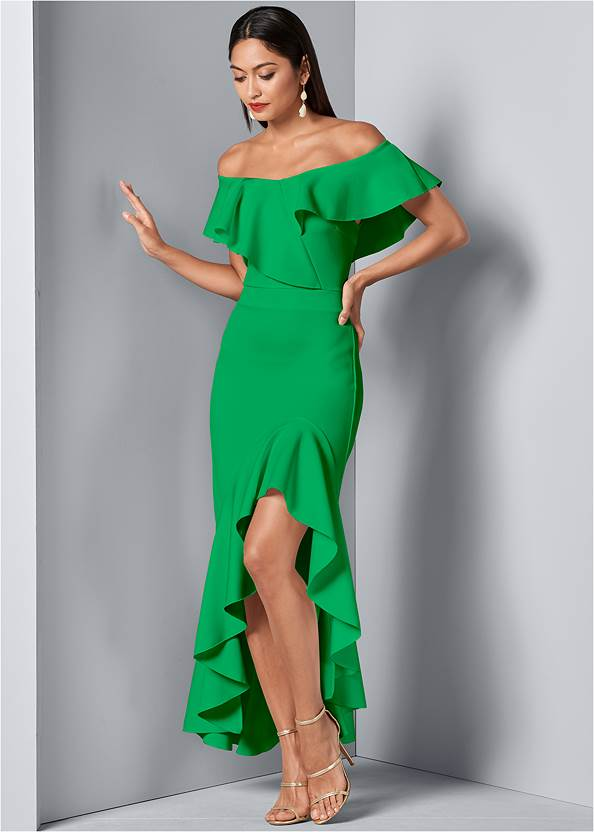 Front view High Low Ruffle Dress