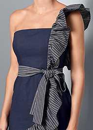Alternative Ruffle Detail Denim Dress
