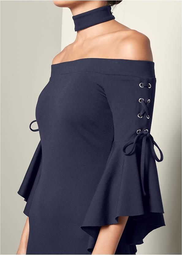 Alternative Choker Sleeve Detail Dress