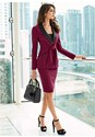 Front View Tie Detail Skirt Suit Set