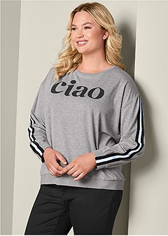 plus size graphic sweatshirt