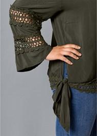 Alternative Crochet Side Tie Top