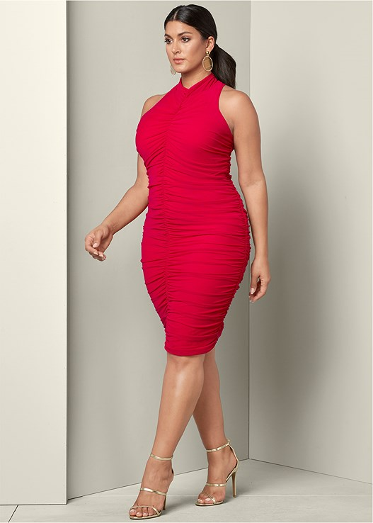 41ac1bf9c58 Plus Size RUCHED BODYCON DRESS
