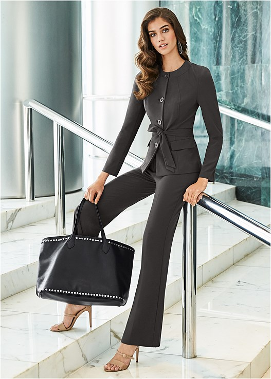 the cheapest on feet images of best choice BELTED PANT SUIT SET