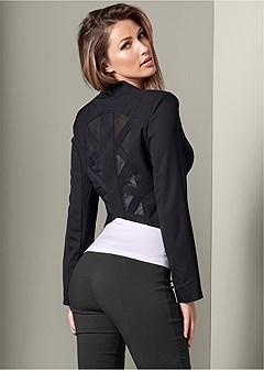 mesh detail jacket