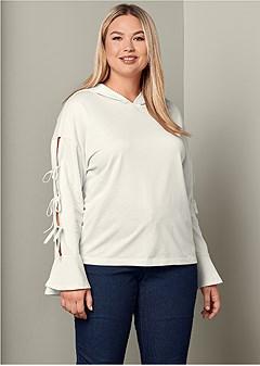 plus size bell sleeve sweatshirt
