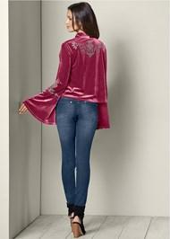 Back view Embellished Velvet Jacket