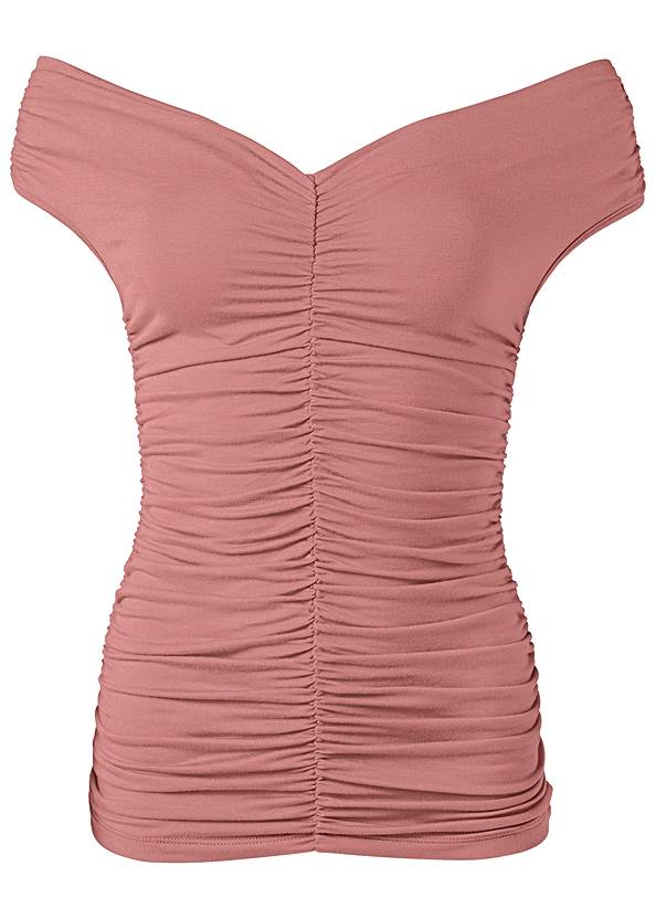 Alternate View Ruched Detail Top
