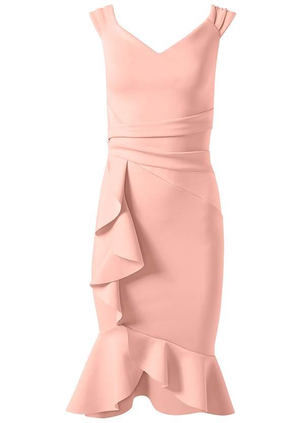 Alternate View Cap Sleeve Ruffle Detail Dress