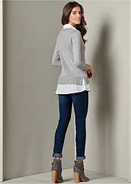 Back View Twofer Sweater