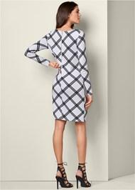 Back View Geometric Printed Dress