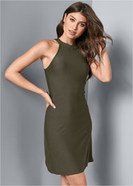 Front View Casual A-Line Dress