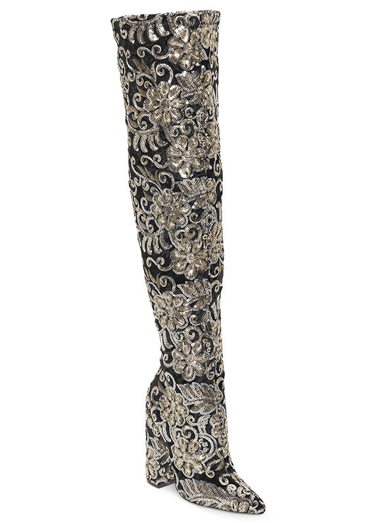 SEQUIN EMBROIDERED BOOT