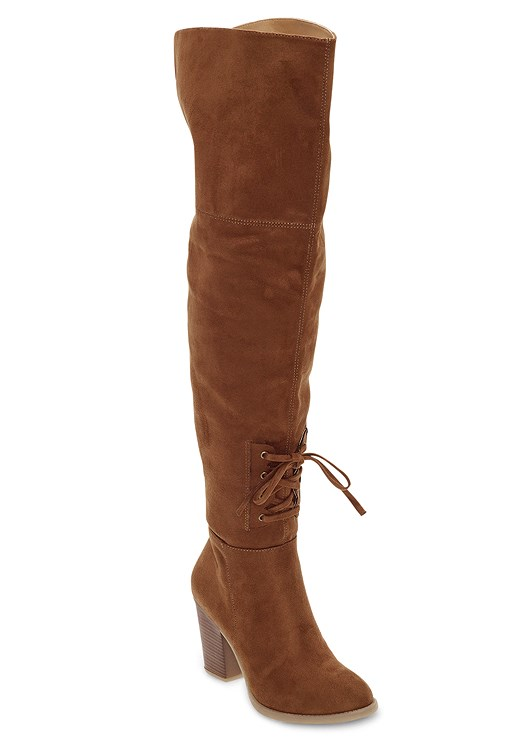 OVER THE KNEE MINI TIE BOOT