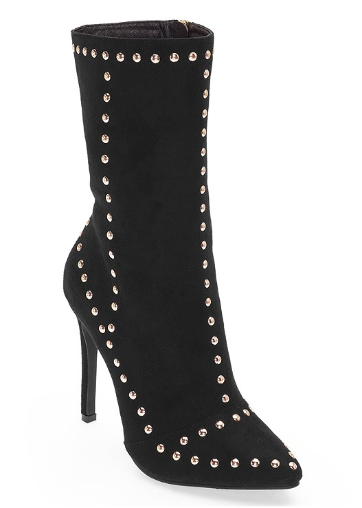 STUD DETAIL MID CALF BOOT