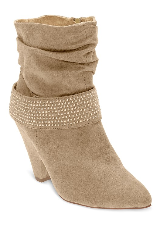 STUD DETAIL SLOUCH BOOTIE