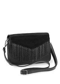 metal fringe crossbody
