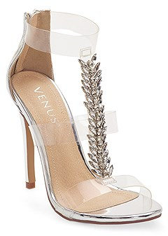 embellished t strap heel