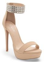 glitter ankle strap heels