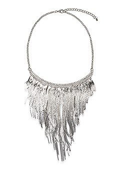metal fringe necklace