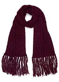 Front View Fringe Scarf
