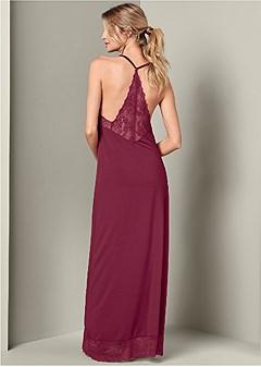 lace long sleep dress