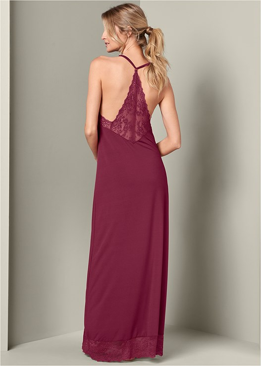 LACE LONG SLEEP DRESS