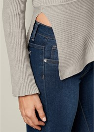 Alternate View Grommet Detail Sweater