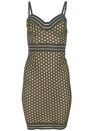 Alternate View Lace Detail Bodycon Dress