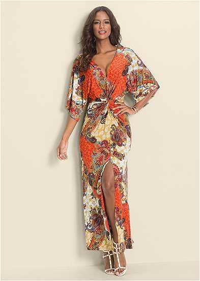 Boho Print Maxi Dress