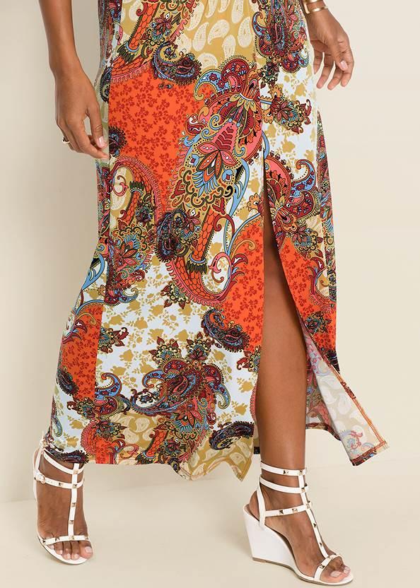 Alternate View Boho Print Maxi Dress