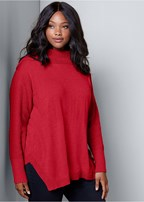 plus size button detail sweater