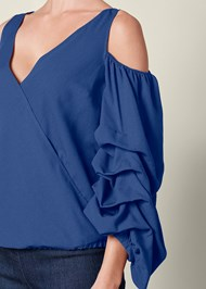 Alternate view Cold Shoulder Surplice Top